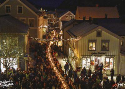 Verdens lengste julegrøtbord i Mosjøen